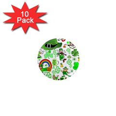 St Patrick s Day Collage 1  Mini Button Magnet (10 pack)