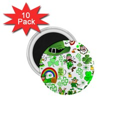 St Patrick s Day Collage 1.75  Button Magnet (10 pack)