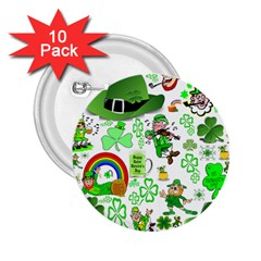St Patrick s Day Collage 2.25  Button (10 pack)