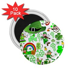 St Patrick s Day Collage 2.25  Button Magnet (10 pack)