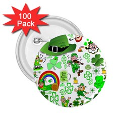 St Patrick s Day Collage 2 25  Button (100 Pack)
