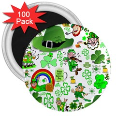 St Patrick s Day Collage 3  Button Magnet (100 pack)