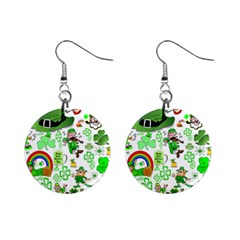 St Patrick s Day Collage Mini Button Earrings