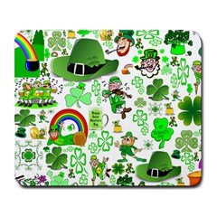St Patrick s Day Collage Large Mouse Pad (Rectangle)