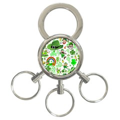 St Patrick s Day Collage 3-Ring Key Chain