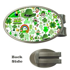St Patrick s Day Collage Money Clip (Oval)