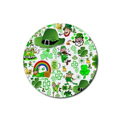 St Patrick s Day Collage Drink Coasters 4 Pack (Round)