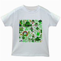 St Patrick s Day Collage Kids T-shirt (White)