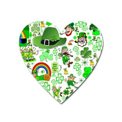 St Patrick s Day Collage Magnet (Heart)
