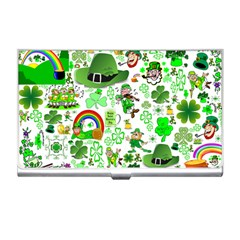 St Patrick s Day Collage Business Card Holder