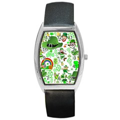 St Patrick s Day Collage Tonneau Leather Watch