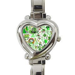 St Patrick s Day Collage Heart Italian Charm Watch
