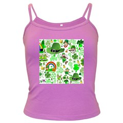 St Patrick s Day Collage Spaghetti Top (Colored)