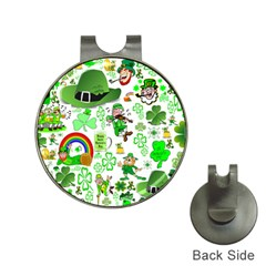 St Patrick s Day Collage Hat Clip with Golf Ball Marker