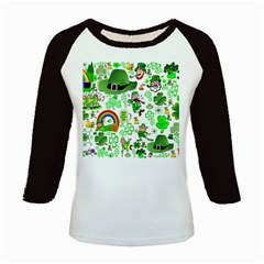 St Patrick s Day Collage Kids Long Cap Sleeve T-Shirt