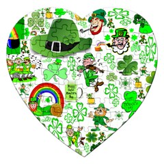 St Patrick s Day Collage Jigsaw Puzzle (Heart)