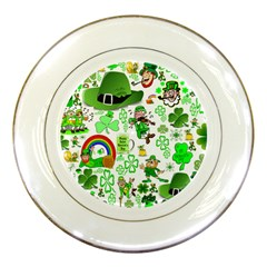 St Patrick s Day Collage Porcelain Display Plate