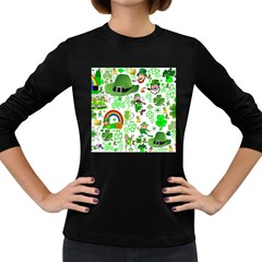 St Patrick s Day Collage Women s Long Sleeve T-shirt (Dark Colored)