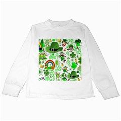 St Patrick s Day Collage Kids Long Sleeve T-Shirt