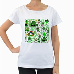 St Patrick s Day Collage Women s Maternity T-shirt (White)