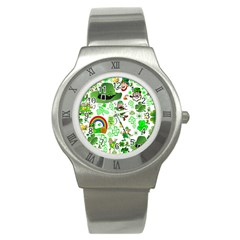 St Patrick s Day Collage Stainless Steel Watch (Slim)