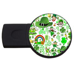 St Patrick s Day Collage 4GB USB Flash Drive (Round)