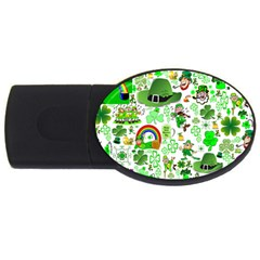St Patrick s Day Collage 4GB USB Flash Drive (Oval)