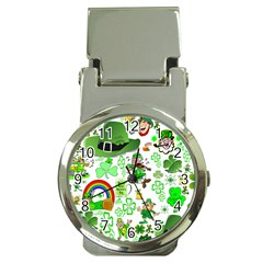 St Patrick s Day Collage Money Clip with Watch
