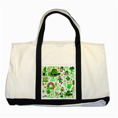 St Patrick s Day Collage Two Toned Tote Bag