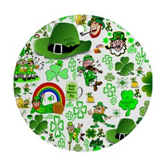 St Patrick s Day Collage Round Ornament (two Sides)