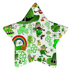 St Patrick s Day Collage Star Ornament (Two Sides)