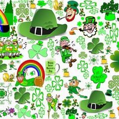 St Patrick s Day Collage Canvas 12  x 12  (Unframed)