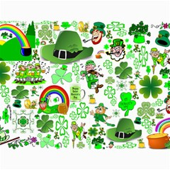 St Patrick s Day Collage Canvas 12  x 16  (Unframed)
