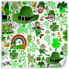 St Patrick s Day Collage Canvas 16  x 16  (Unframed)