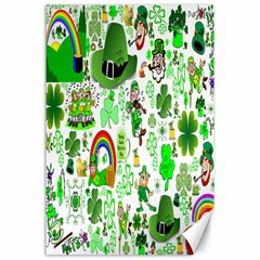 St Patrick s Day Collage Canvas 24  X 36  (unframed)