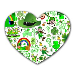 St Patrick s Day Collage Mouse Pad (Heart)