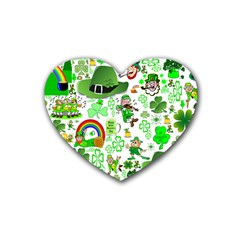 St Patrick s Day Collage Drink Coasters 4 Pack (Heart)