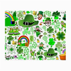St Patrick s Day Collage Glasses Cloth (Small, Two Sided)