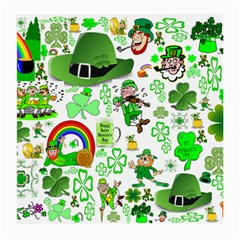St Patrick s Day Collage Glasses Cloth (Medium, Two Sided)