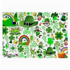 St Patrick s Day Collage Glasses Cloth (Large, Two Sided)