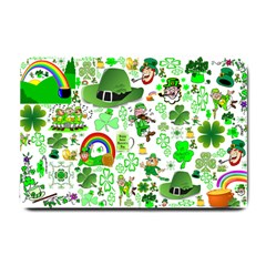 St Patrick s Day Collage Small Door Mat