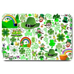St Patrick s Day Collage Large Door Mat