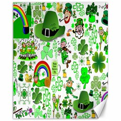 St Patrick s Day Collage Canvas 11  x 14  (Unframed)