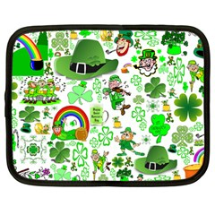 St Patrick s Day Collage Netbook Sleeve (large)