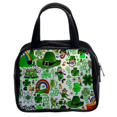 St Patrick s Day Collage Classic Handbag (Two Sides)