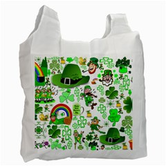St Patrick s Day Collage Recycle Bag (one Side)