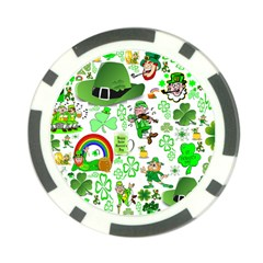 St Patrick s Day Collage Poker Chip (10 Pack)