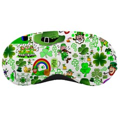 St Patrick s Day Collage Sleeping Mask