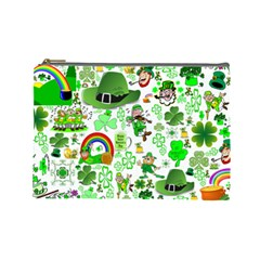 St Patrick s Day Collage Cosmetic Bag (Large)