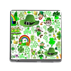 St Patrick s Day Collage Memory Card Reader with Storage (Square)